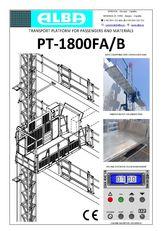 platformă suspendată PT ALBA 1800FA/B nou
